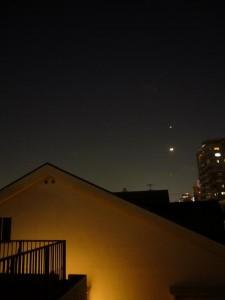 2012年3月26日 木星・月・金星直列