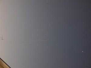 きぼうが東京上空を通過