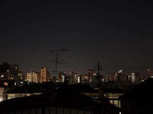 我が家の屋上の夜景